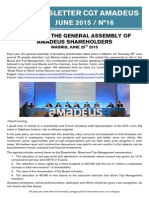 Newsletter 16 - Shareholders Meeting 2015