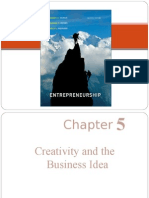 53021136 Ch 5 Creativity and the Business Idea