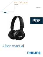 Philips SHB550 Bluetooth Headset Manual