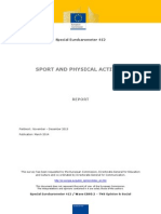 Sport and Physical Activity European Barometer