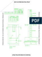 Footing Column Section