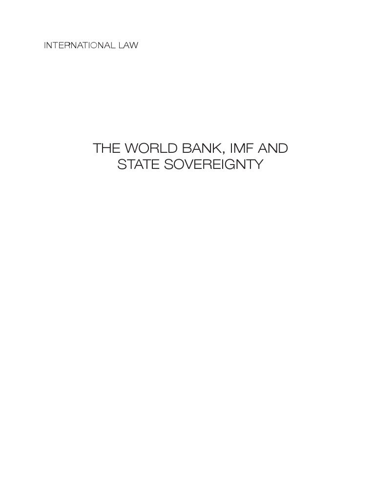 International Law   Sovereignty   World Bank