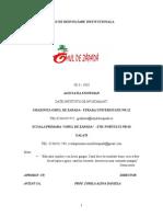 Plan de Dezvoltare Institutionala Scoala Primara Omz
