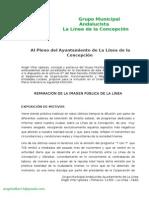 Moción del Partido Andalucista para la Reparación de La Imagen Pública de La Línea