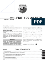 2015 FIAT 500 Abarth Owners Manual
