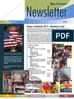 Village of Streamwood Newsletter July, 2015