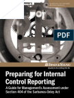 Sarbanes-oxley Preparing for Internal Control Reporting