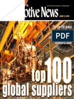 2011年全球汽车零部件配套供应商百强名单