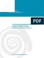 Community Development Employment Projects (CDEP) Program_Program Guidelines 2009-12
