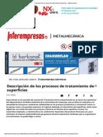 Descripción de Los Procesos de Tratamiento de Superficies - Metalmecánica