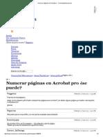 Numerar Páginas en Acrobat Pro