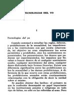 Foucault - Tecnologías Del Yo