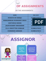 Security of Assignments