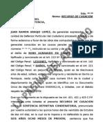 FORMATO DE RECURSO DE CASACIÓN PENAL.doc