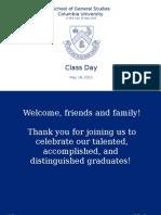 2015 GS Class Day Slideshow