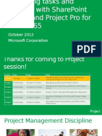 Managing Tasks and Projects With SharePoint Online and Project Pro for Office 365