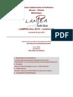 LAMPEA-Doc 2015 - numéro 20 / Vendredi 26 juin 2015