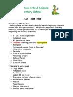 douglas 5th grade supply list 1516