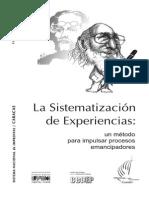 5 La Sistematizacion de Experiencias - Un Método Para Impulsar Procesos Emancipadores