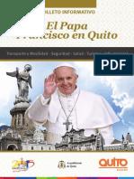 Folleto Francisco en Quito