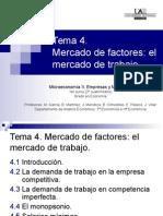 Tema 4 Mercado de Factores El Mercado de Trabajo