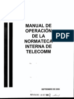 Direc Planeacion Sub Pla Estratégica m Normateca Interna Telecomm