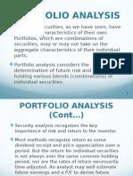 Portfolio Analysis & Management