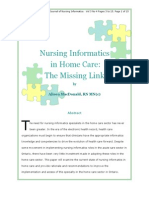Nursing Informatics for Home Care