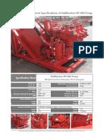 Data Sheet Halliburton HT-400 Pump Only