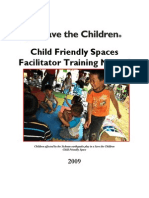Save the Children Child-Friendly Spaces