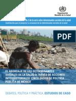 EL ABORDAJE de LOS DETERMINANTES_a Traves Del Abordaje Intersectorial