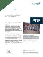 An Analysis of Transformer Failures, Part 1