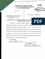Judge Orlando Garcia - Same-sex marriage stay lift