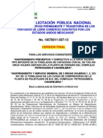 BASES Version Final, Servicios Mantto Prev y Correc Gruas 20 Tons y 3 Gruas Viajeras LPN-507-13