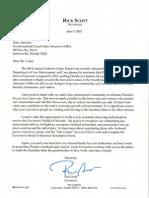 Governor Scott's Letter
