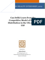 Can Delhi Learn From the Competitive Model of Power Distribution in the Uk Usa Keshav Khanna