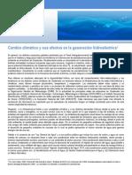 01-14 Cambio Climático y Sus Efectos en La Generación Hidroeléctrica