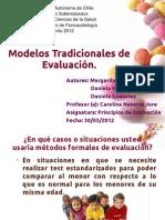 modelos tradicionales evaluacion