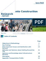 City of Toronto Construction Research Report