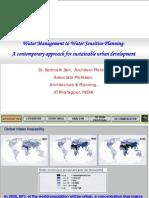 Prof. Sen-Water Management to Water Sensitive Planning