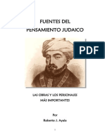 Fuentes Del Pensamiento Judaico - Roberto Ayala