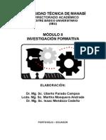 Modulo Investigación Formativa 2007