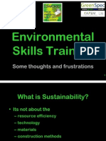 Environmental Skills Training (Presented to East of England Skills event & RIBA Part 1 Year 2/4 Students LSBU)