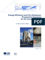Energy Efficiency and CO2 Emissions Prospective Scenarios for the Cement Industry