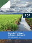 Managing fertilizers to enhance soil health