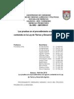 Las pruebas en el procedimiento oral agrario contenido en la Ley de Tierras y Desarrollo Agrario.docx
