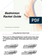 LN Badminton Racket Guide