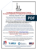 Chicago-September-30-Academia... Export Compliance...
