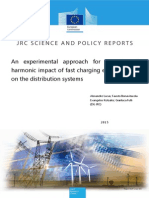 An Experimental Approach for Assessing the Harmonic Impact of Fast Charging Electric Vehicles on the Distribution Systems
