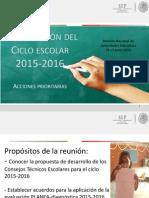 Organizacion Escolar 15-16 Acciones Prioritarias